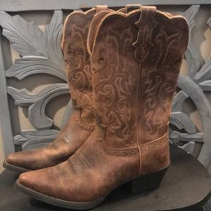 Justin Cow Girl Boots size 9.5B New
